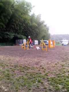 雨が降っても練習!